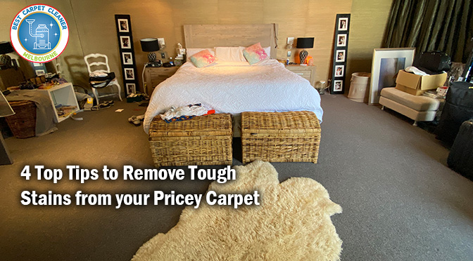 4 Top Tips to Remove Tough Stains from your Pricey Carpet